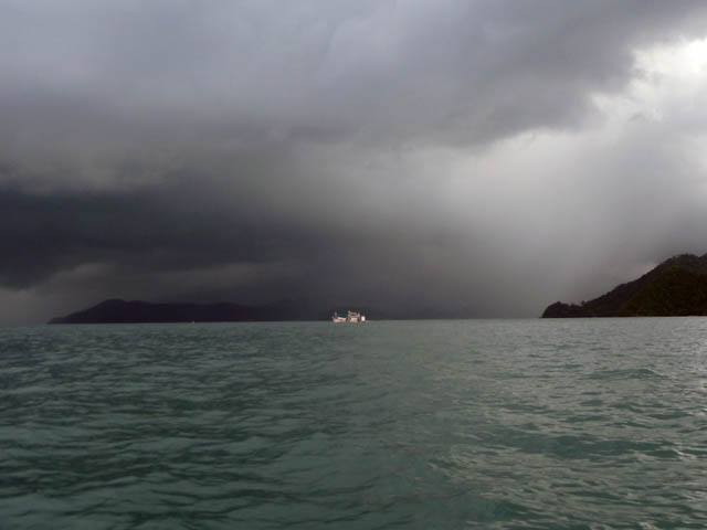 Kayaking to Koh Ngam in June.  Looks like rain is on the way.