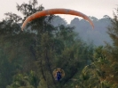 At Thai New year, in April, a group of paramotor enthusiasts from Chaing Mai visted the island.