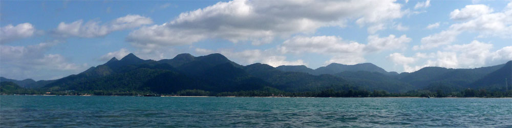 I took this in March.  Great views from the bay off Klong Prao beach
