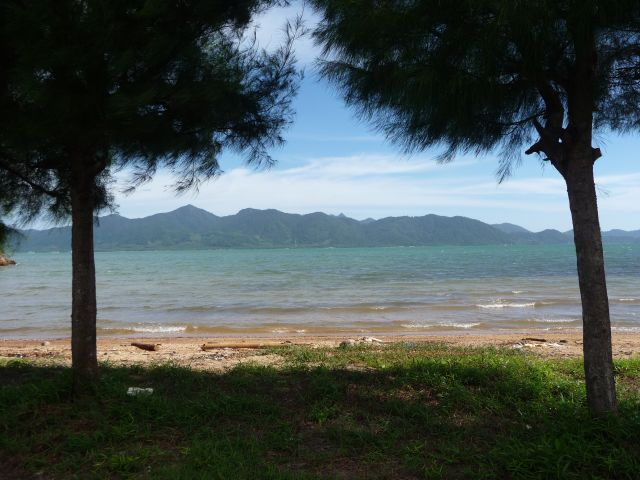 View of the east coast of Koh Chang taken from the naval base on the mainland in June