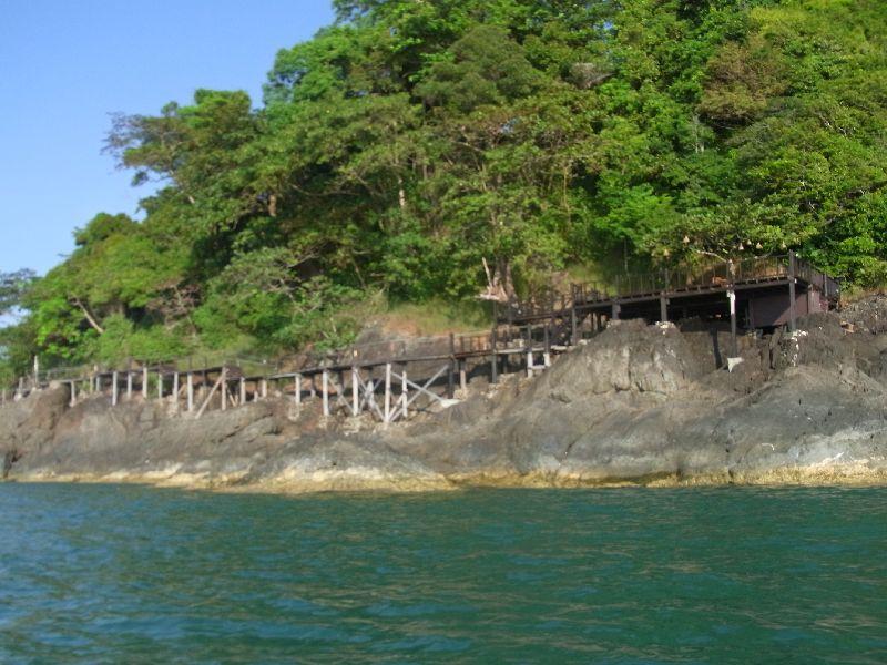 Cliff walkway at Nirvana Resort
