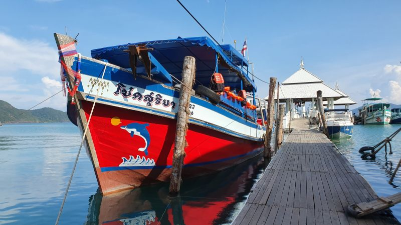 Wooden boat to Koh Mak and Koh kood