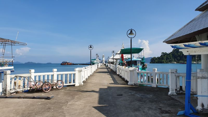 Walking to the end of Bangbao pier