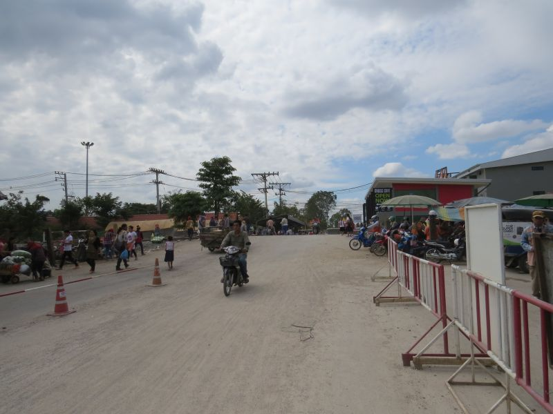 From the bank, crss the railway tracks to the entrance to Thai immigration