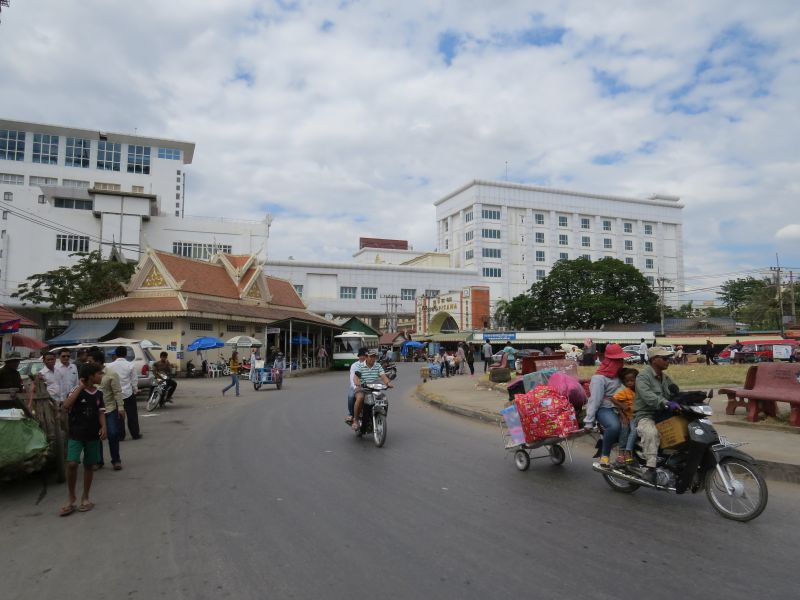 Looking back to border from inside Cambodia.