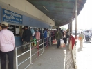 Cambodians queuing to get out of Cambodia
