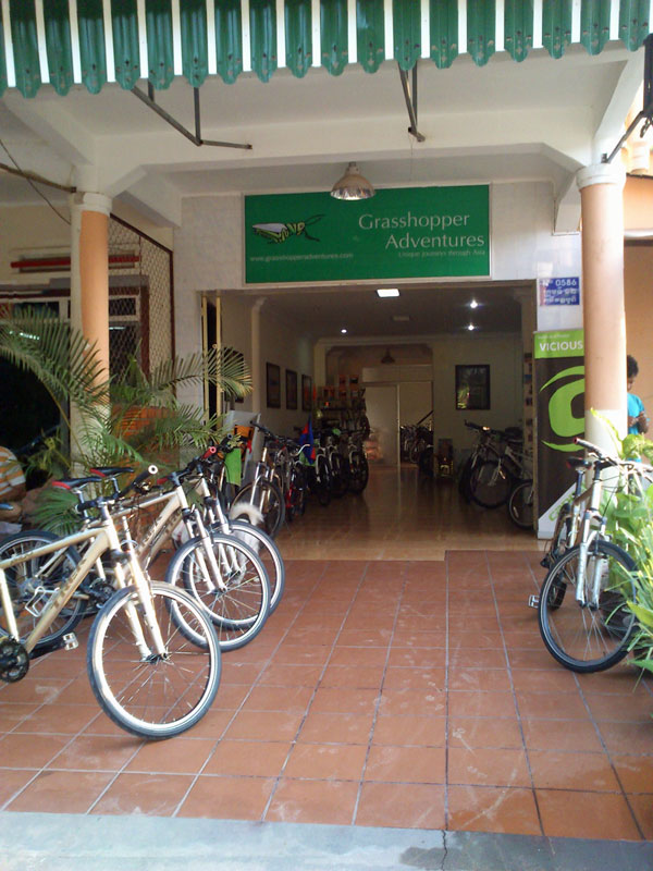 Grasshopper Bike Shop on 26 Street, Siem Reap