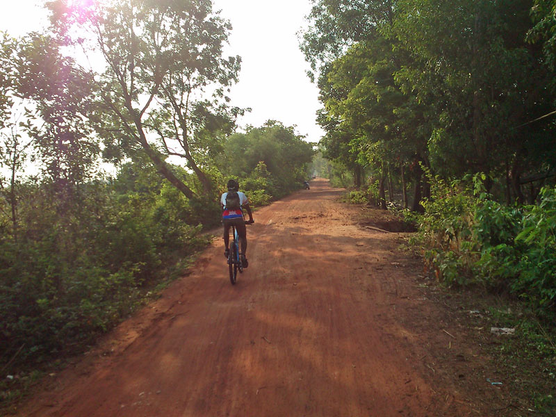Early moring cycling