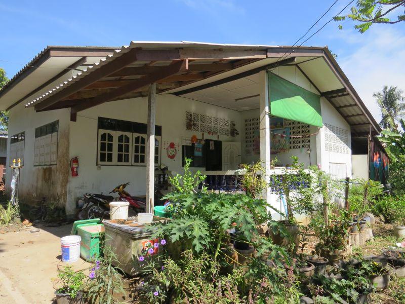 A few small shops.  This one sells batik