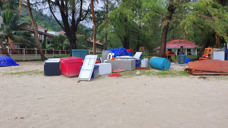 Klong Prao beach after the flood