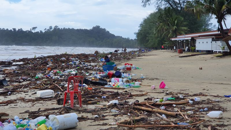 Klong Prao beach after the flood