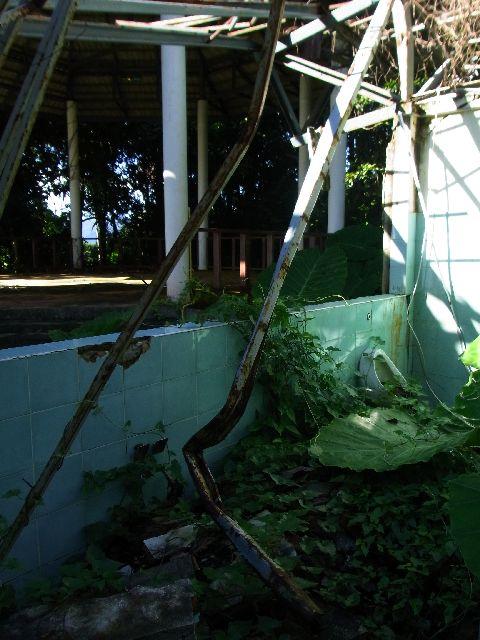 Damaged toilet