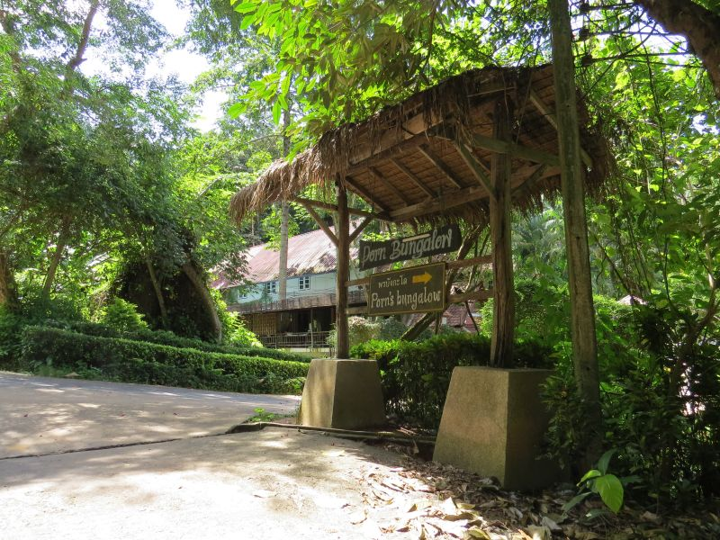 Up access road to Seaview Resort entrance