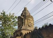 Fake Angkor Wat - Bayon face in Klong Son valley