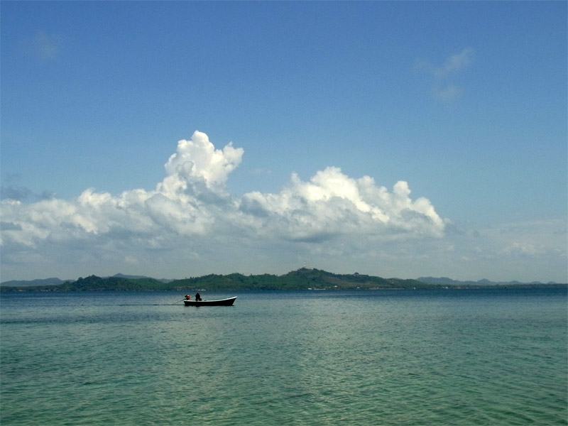 View from the island to the mainland