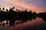 Sunset over Klong Chao estuary