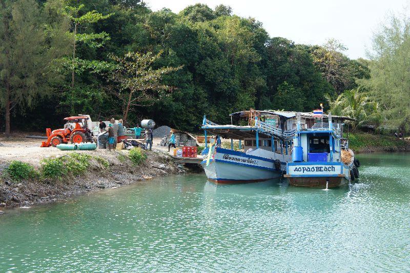 Port at Ao Phrao , south Koh kood