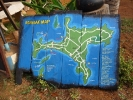 Hand painted koh mak island map