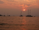Yachts at sunset of Ao Suan Yai beach