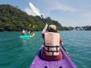 Paddling towards Koh Ngam