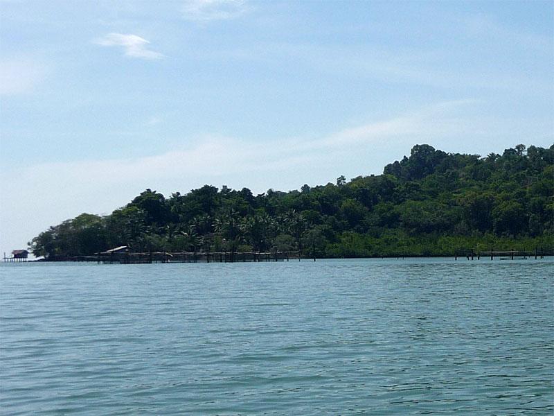 The east coast of the island