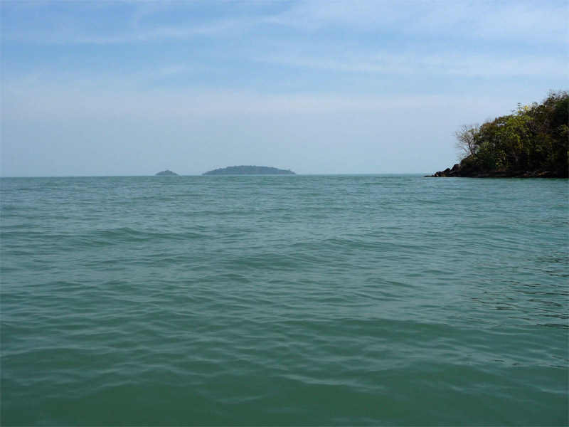 Lokking out of Salakkok Bay,  Koh Salak on the left
