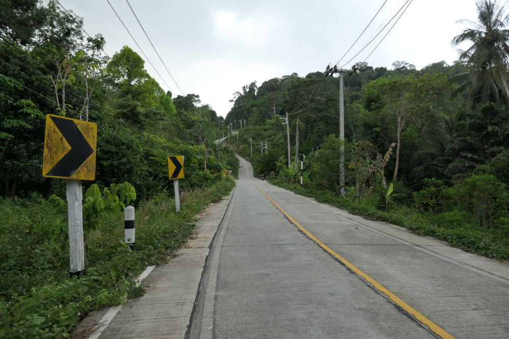Main road on Koh Kood