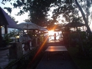 Sunset at restaurant