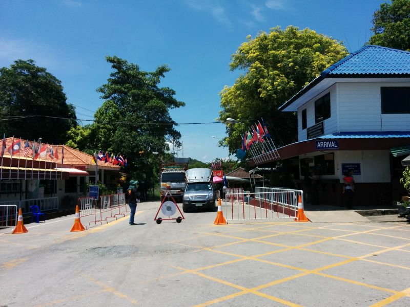 Thai side of the Border Crossing