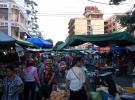 Fresh market traffic Phnom Penh