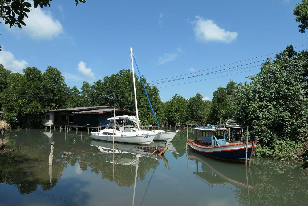 Near the boatyard