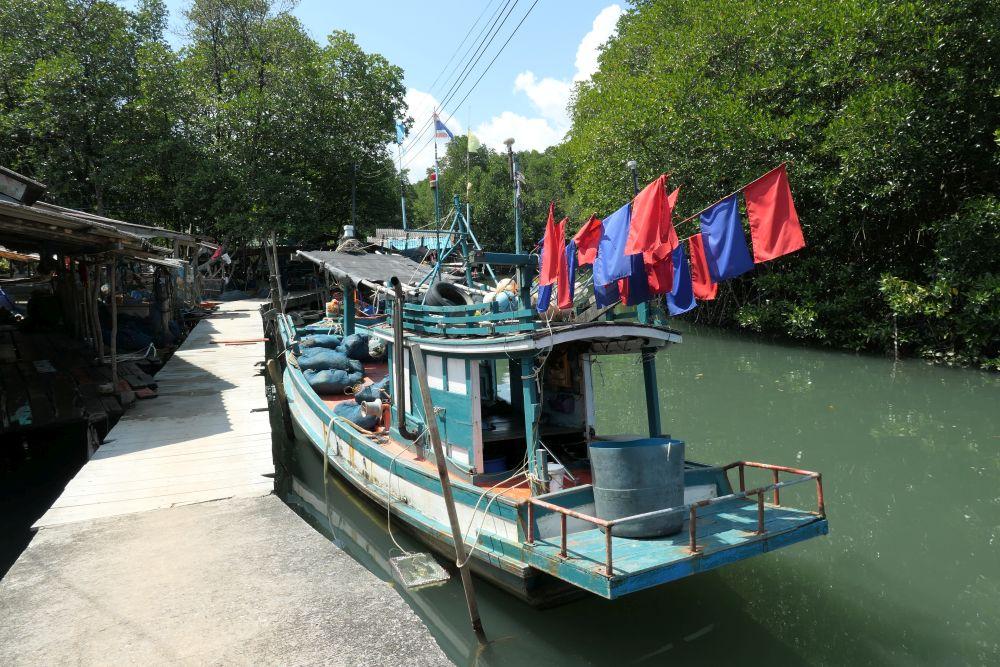 Fishing boat moored at Salakkok village