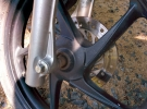 Ideally get a bike with a front disc brake