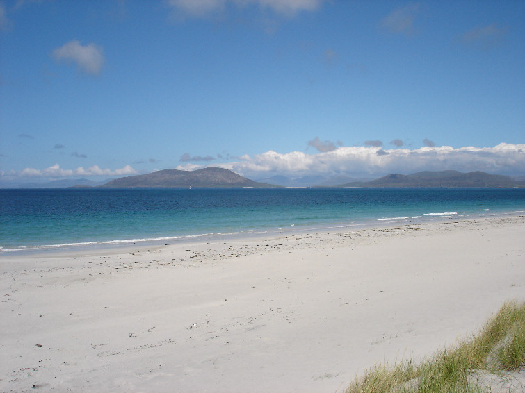 The Harris Hills from Isle of Berneray