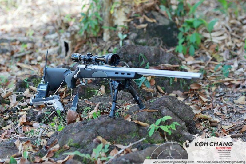 Night shooting at Koh Chang Shooting Range