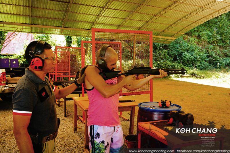 Sniper rifle at Koh Chang Shooting Range
