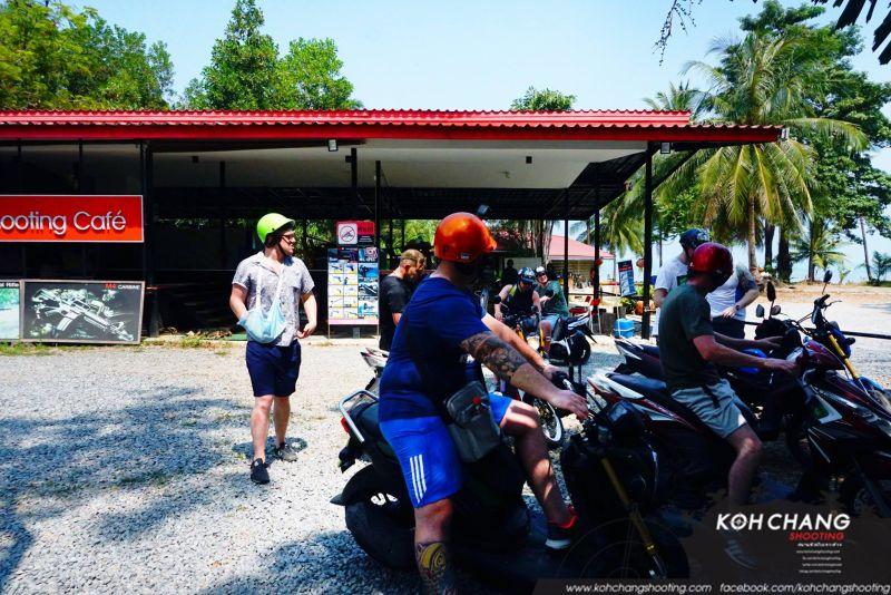 Tourists with guns at Koh Chang Shooting Range