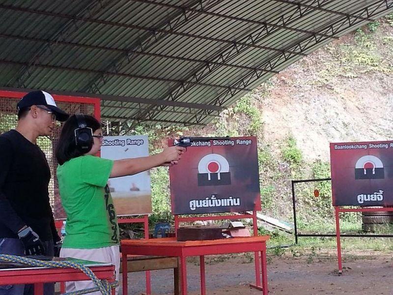 Pistol at Koh Chang Shooting Range