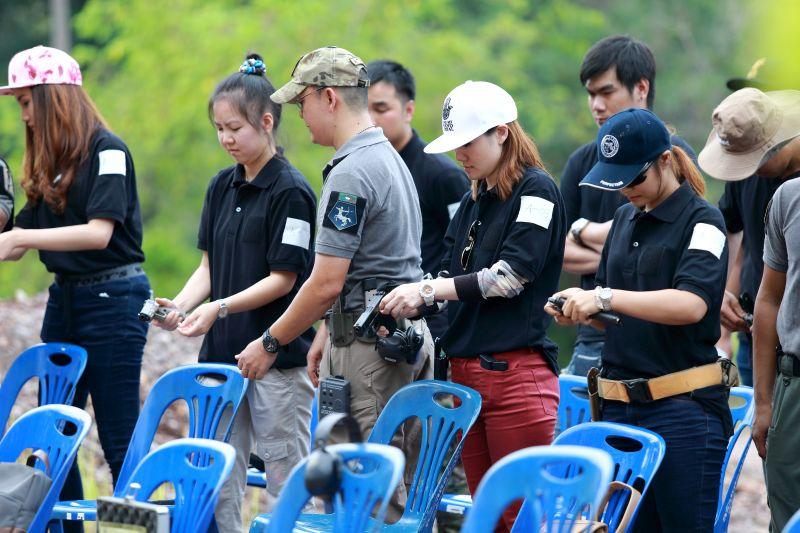 Target shooting at Koh Chang Shooting Range