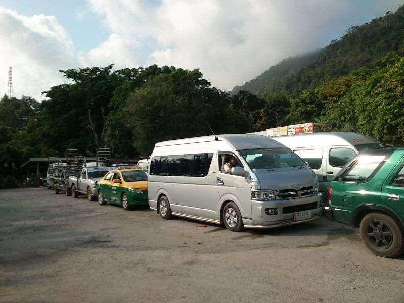 Minibus at Centrepoint Pier, Koh Chang