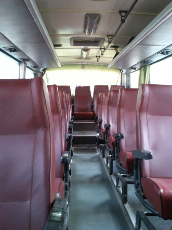The bus from Siem Reap - before it filled up