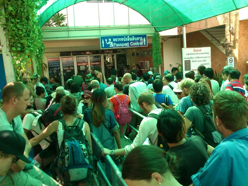 Queueing at Thai Immigration