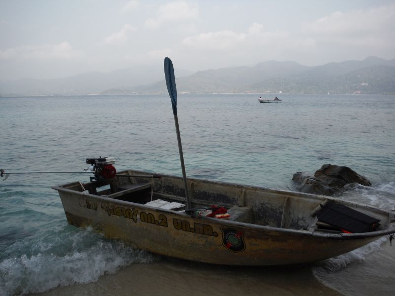 Run aground on the beach