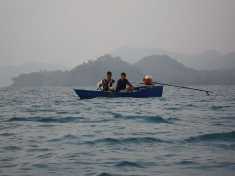 Locals out fishing