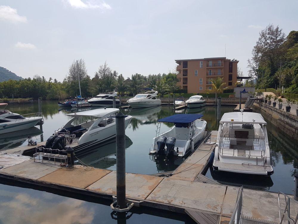 Yacht marina at Siam Royal View
