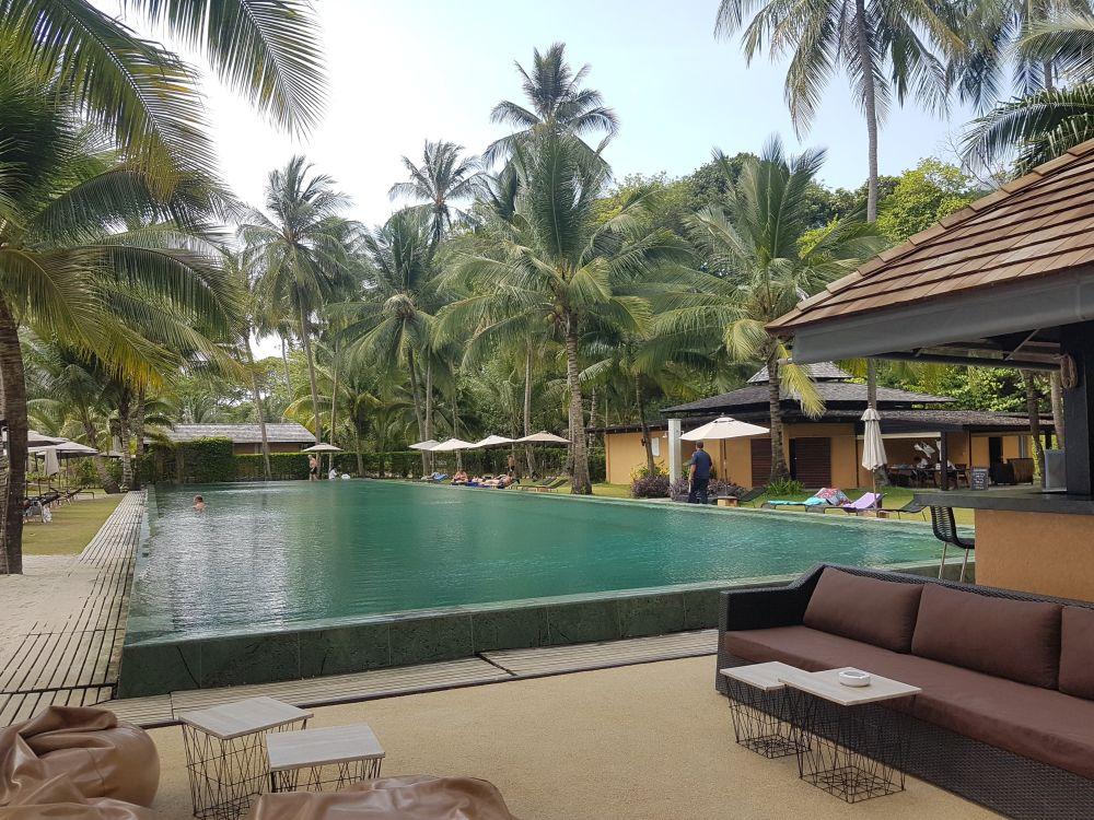 40 metre long swimming pool