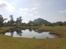 Disc golf course built on the lagoon