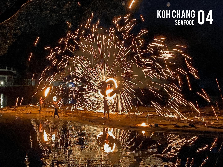 Fireshow at Koh Chang Seafood