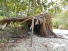 Shelter built by Robinson Crusoe