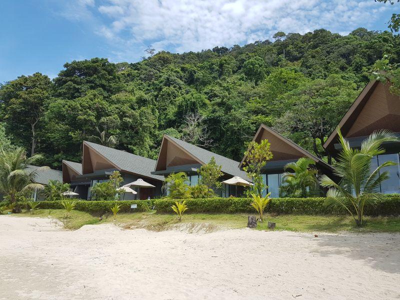 Beach villas at KC Grande Resort White